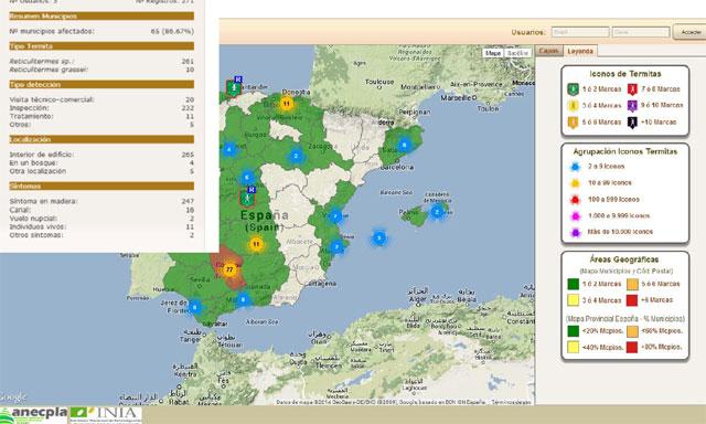 mapa termitas en España